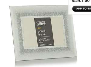 Silver Glitter Ombre Glass Frame - 6 x 4 Inch £1.50 reduced from £4 asda