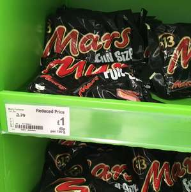 Mini mars bars 13 pack reduced to £1.00 @ Asda Hamilton