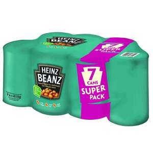 Heinz Baked Beans (7 Pack x 415g) RRP £4.65 YOU SAVE £1.66 now £2.99 @ Poundstretcher