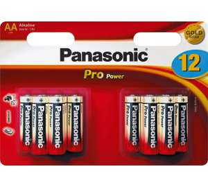 Panasonic Pro Power AA Batteries - 12 Pack - £2.49 @ Argos