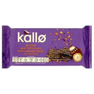 Kallo Belgian Milk Chocolate and Caramel Rice Cake Thins (84g) ​Only 69p @ Poundstretcher
