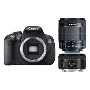 Canon 700D + 18-55mm IS STM + 50mm f/1.8 STM + Lexar PRO 32GB SD - £479 @ Park Cameras