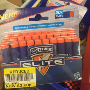 nerf darts X30 £3.60 instore @ Tesco Formby