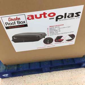 Roof top box - 200L £69 instore at Tesco Peterborough