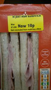 Just Ham Sandwich was £1.0 now £0.10 in store at Morrison's Aberdeen