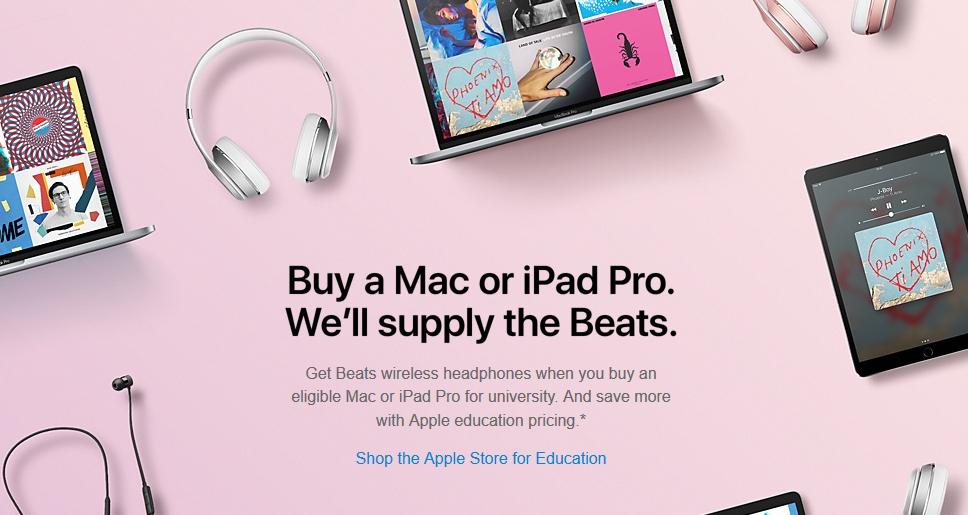 Free Beats With Select Mac or iPad Pro Models @ Apple
