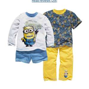 Pack of 2 Minion pyjamas £6.49 @ Argos plus others
