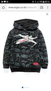 Star wars X wing hoodie £6.49 @ Argos sizes covering 4yrs up to 11.