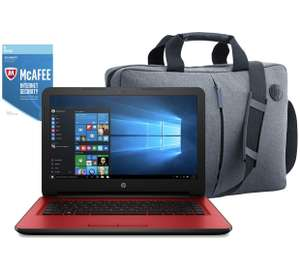 HP 14 Inch Intel i3 dual core, 8GB RAM 2TB HDD Laptop Red -  Carry Bag & McAfee Subscription included  £389.99 @ Argos
