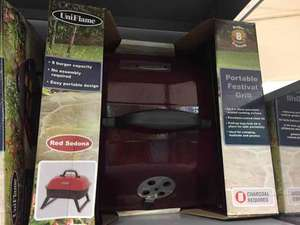 portable bbq grill (£15 usually) - £3.75 now at ASDA