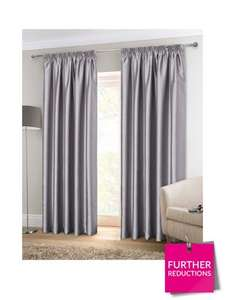 Jodie Faux Silk Lined Pleated Curtains (was from £29.98) Now from £13.49 at Very (5 colours available)