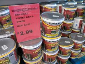 Ronseal Timbercare, 5 Litres £2.99, B&M Stores