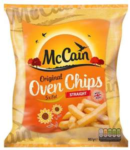 McCain Original 5% Fat Oven Chips - Straight Cut (907g) was £1.75 now £1.00 @ Sainsbury's