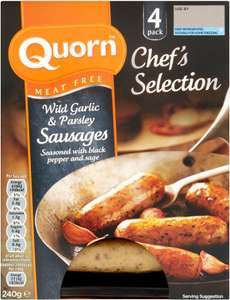 Quorn Wild Garlic & Parsley Sausages (240g) was £2.20 now £1.25 @ Sainsbury's