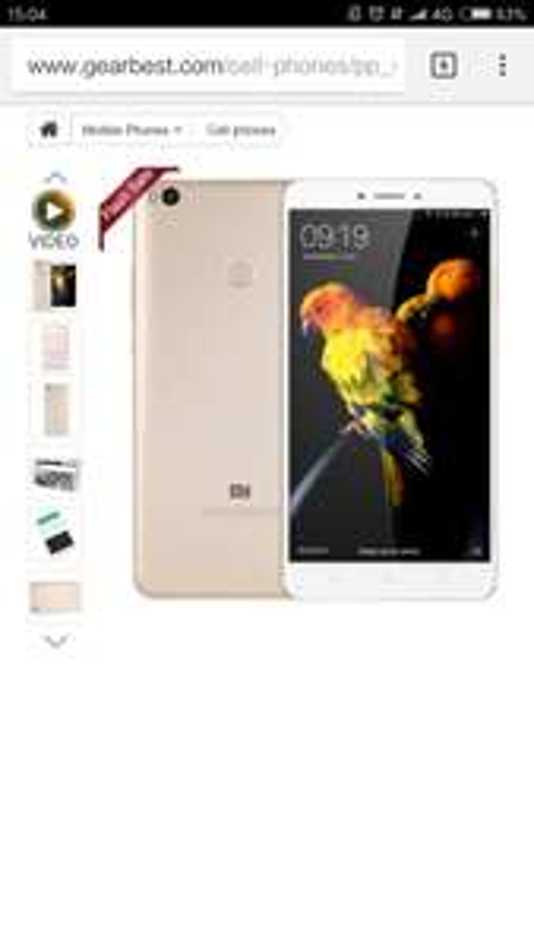 XiaoMi MI Max 2, 6.44 inch 4G ram and 64 rom £206.43 @ Gearbest