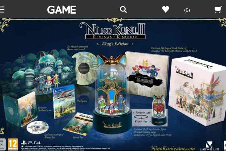 Ni No Kuni 2 Kings edition VERY LIMITED £159.99 @ Game