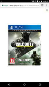 Infinite Warfare Legacy Edition +(MWR) [PS4] £24.85 @ ebay / videogame-uk
