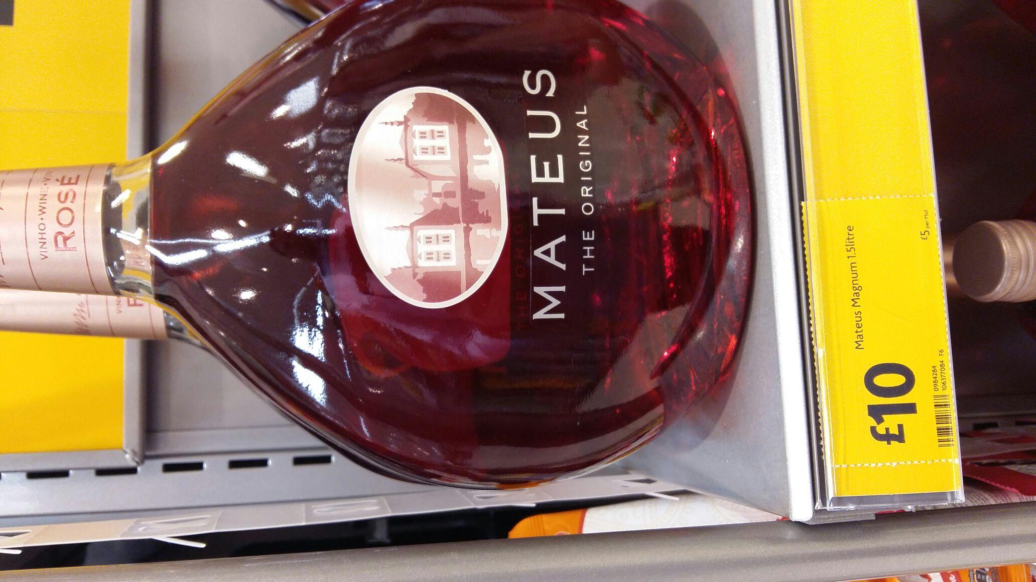 Mateus wine £10 at Morrisons Doxford Park Sunderland SR3 2ND