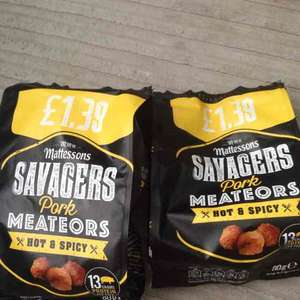 mattessons savagers pork meateors 2 for £1 in jack fultons