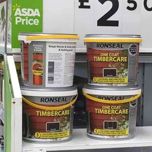 Ronseal one coat TIMBERCARE on sale in Asda £2.50