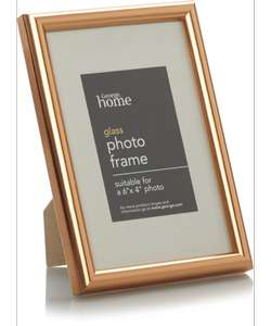 Copper Photo Frame (6 X 4 Inch) - 2 Pack Only £2.00 (So £1.00 each) @ George @ Asda