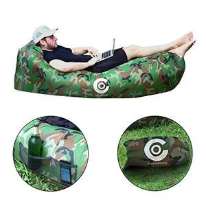Lazy camo inflatable air lounger 50% off promotion £12 prime / £16.72 non prime Sold by PDN Enterprise and Fulfilled by Amazon.