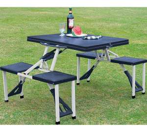 Folding picnic table with stools at Argos for £16.99