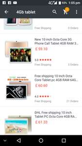 "10"" tablet 4GB ram 32GB MEMORY £60.60 @ Ali express"