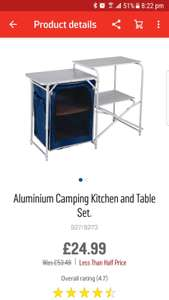 ARGOS Camping kitchen set £24.99