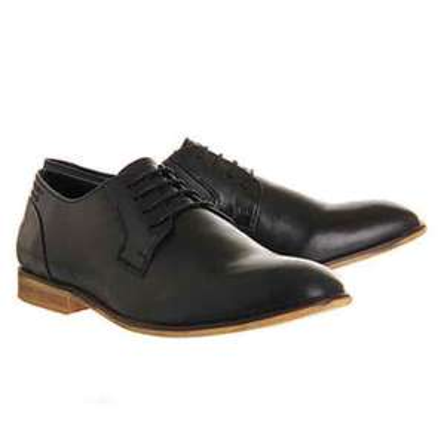 Ram Round Toe Black Leather £10 (free C&C) @ Office
