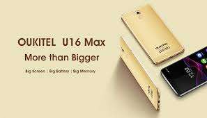 """Oukitel U16 Max Android 7.0 MTK6753 Octa Core Smartphone 3G RAM 32G ROM 6.0"""" Mobile Phone Fingerprint Touch ID 4000mAh Cellphone - £91.23 @ Oukitel Official Aliexpress Store"""