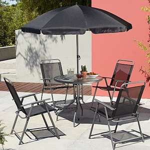 Asda Cuba 6 Piece Patio Set - Black instore for £30