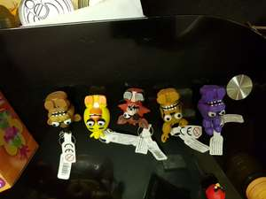 Five nights at freddys key rings. Only £1.99 in b&m - £5.99 in toys r us