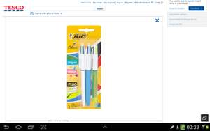 Bic 4 colour pens pack of 3 for £1.50 in tesco