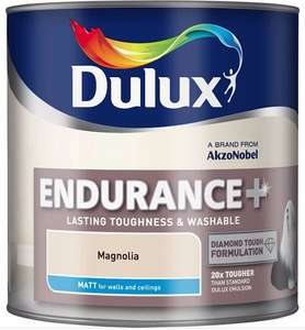 Dulux Endurance Magnolia Matt Emulsion Paint 5L was £24 now £6 @ B&Q