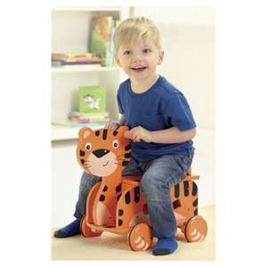 Carousel Wooden Tiger Racer ride-on toy £9.99 reduced from £35 at Tesco