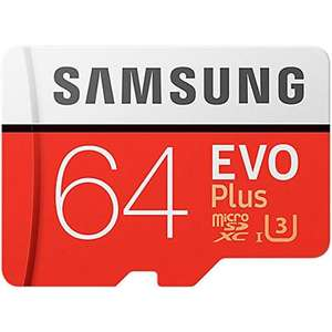 Samsung 64GB Evo Plus Micro SDXC U3 Card + Adapter  £18.99  MyMemory