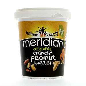 Meridian Organic Crunchy Peanut Butter (smooth also available), 454 g, Pack of 6 for £3.99 @ Amazon (Add on item)