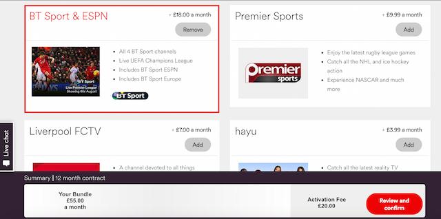 Virgin Media Sky Sports/BT Sport glitch?