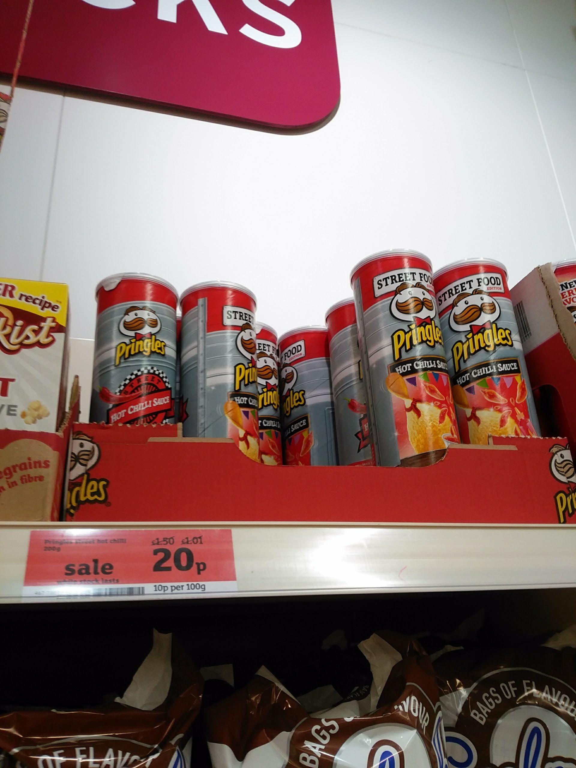 Pringles Hot Chilli Sauce flavour, 20p, Sainsbury's Saltburn