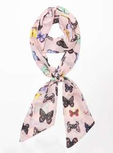Pink Butterfly Skinny Scarf was £8 now £2 C+C @ Dorothy Perkins in Final Clearance Sale