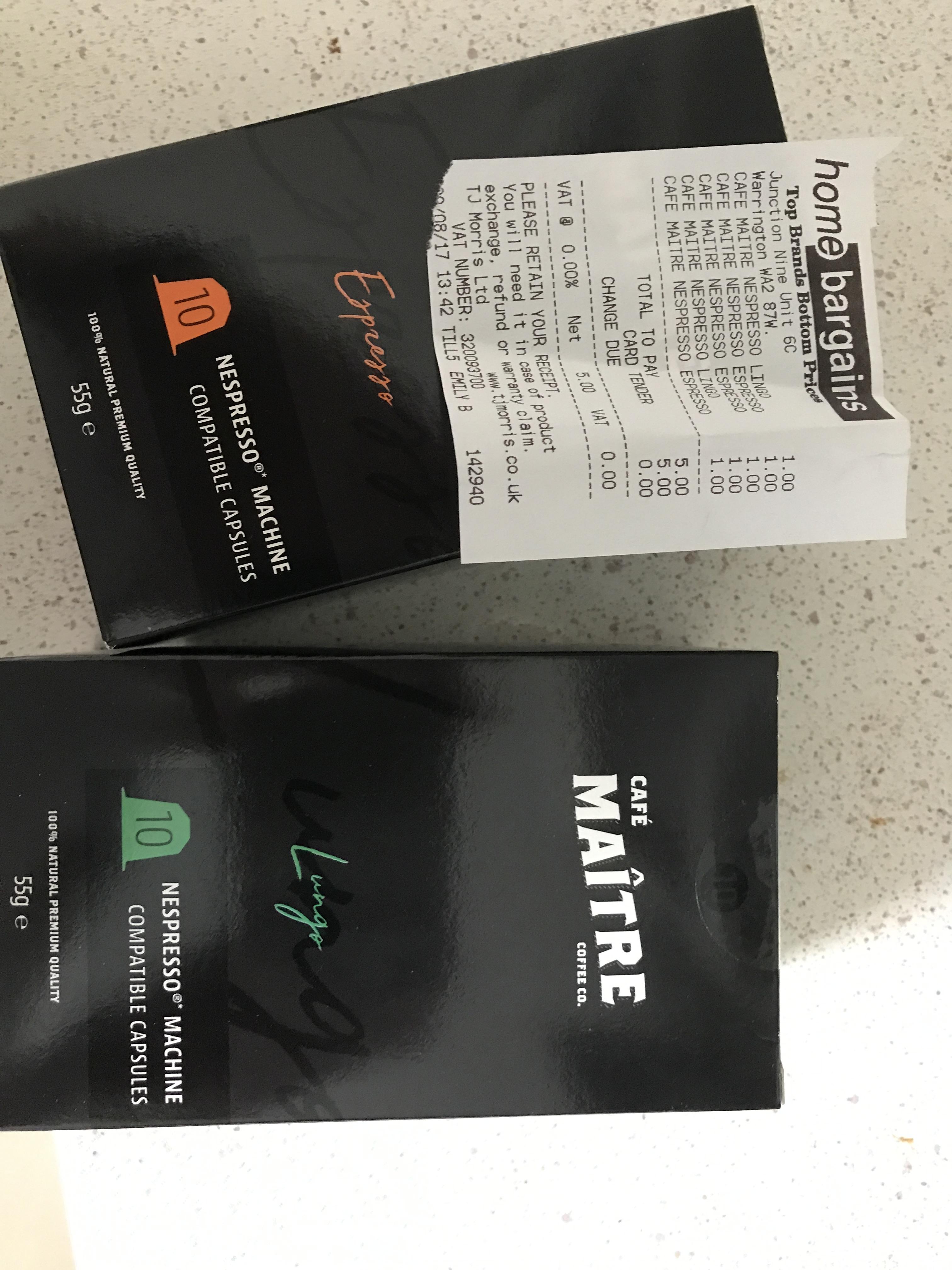 Nespresso compatable coffee £1 @ Home Bargains