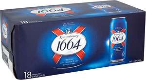 Kronenbourg 1664 18 x 440ml £10.40 ( = £1.31 / litre ) @ ASDA Sutton