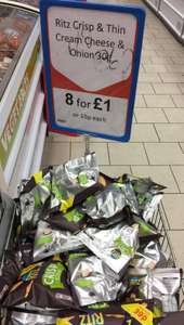Ritz Crisp and Thin. 8 bags for £1.00 at Heron Foods.