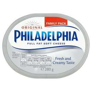 Philadelphia Original Soft Cheese (280g) was £2.40 now £1.20 @ Tesco