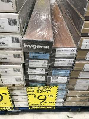 Wooden flooring £9.93 in homebase, Blackpole