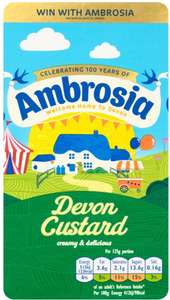 Ambrosia Ready To Serve Devon Custard (1Kg) Half Price was £1.85 now 92p @ Tesco