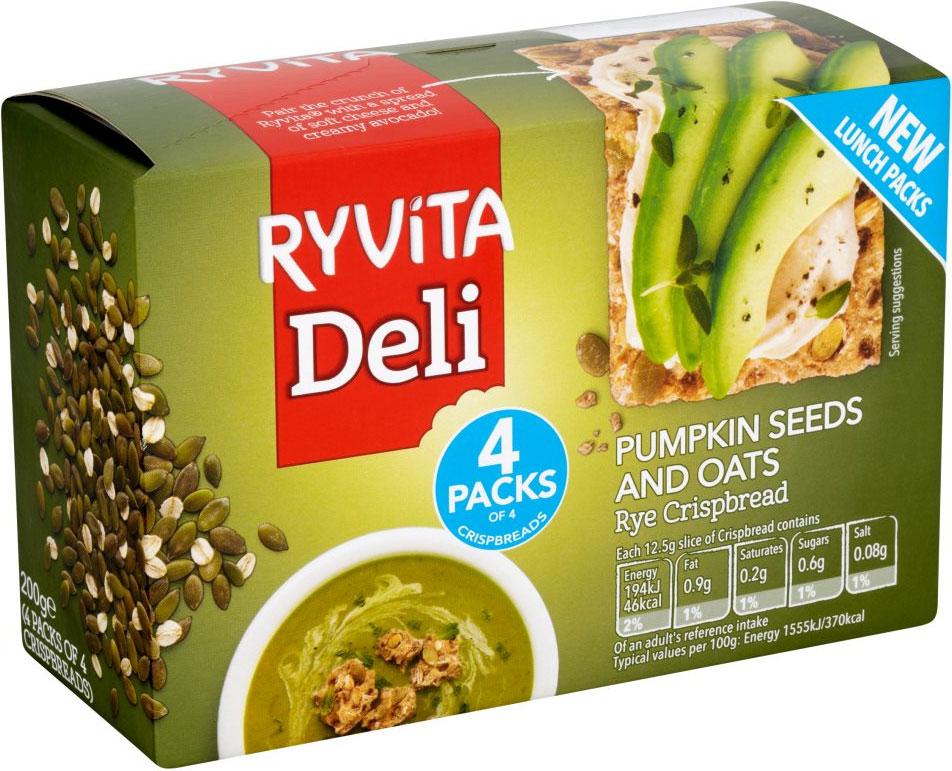 Ryvita Pumpkin Seeds & Oats Crispbread (200g) was £1.59 now 79p @ Tesco