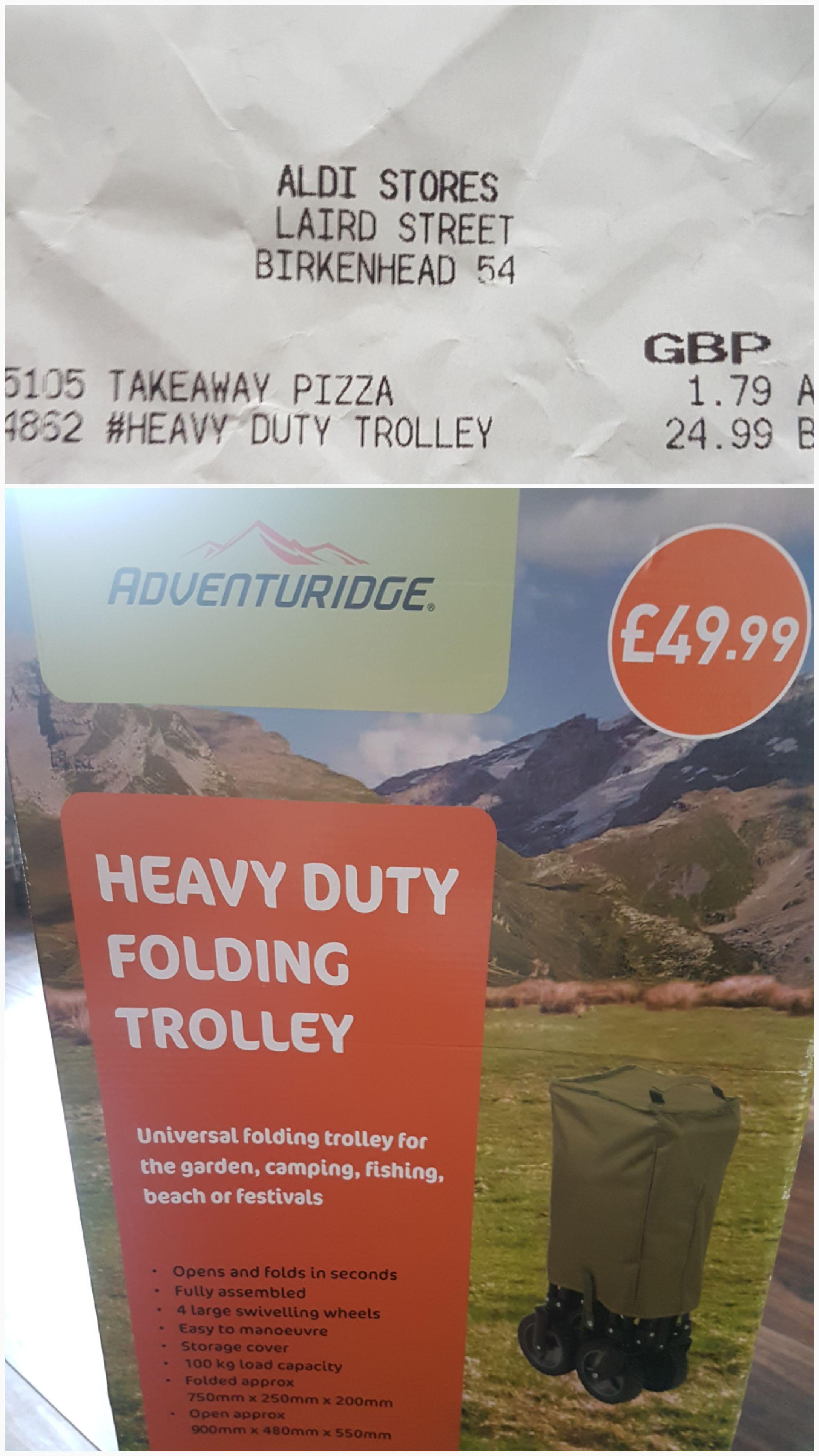 Aldi Festival Trolley - INSTORE BIRKENHEAD - WAS £49.99 NOW £24.99