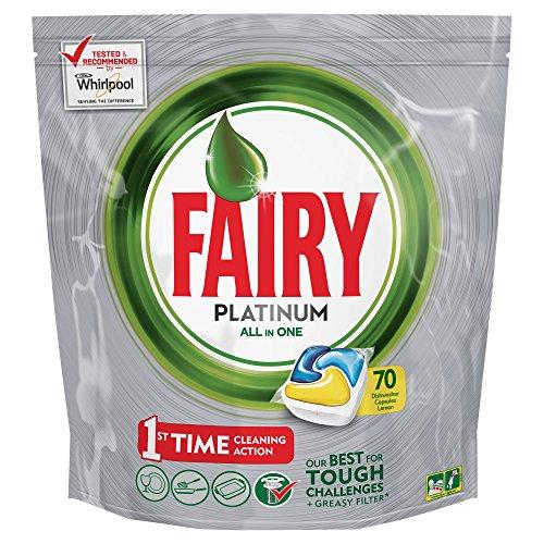 Fairy Platinum Lemon Dishwashing Tablets 70 Capsules £6 at Amazon (prime exclusive) or £5.70 S&S